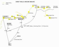 map of beijing great wall great wall map my beijing china