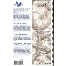 Map Of Colorado River by Rivermaps Colorado River In The Grand Canyon 6th Ed Guide Book At