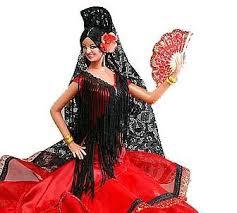 Spanish Dancer Halloween Costume Handmade Flamenco Dolls Collectable Spanish Dolls