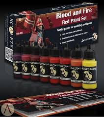blood red paint blood and fire red paint set scale75usa