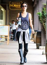 Makeup Classes In Los Angeles Alessandra Ambrosio Heads To Soulcycle Class In Rain Boots Daily