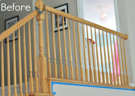 How To Refinish A Wood Banister How To Paint Stairwells My Frugal Adventures