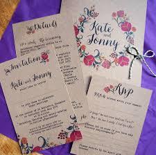 Wedding Inserts Wild Flowers Wedding Stationery Range By Tigerlily Wedding