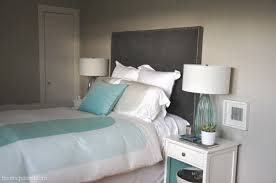 Upholstered Nailhead Headboard by How To Make A Nailhead Upholstered Headboard House Updated