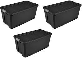 Plastic Storage Containers Melbourne - lovable black plastic storage containers 3pc plastic storage