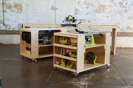 Plans For Building A Wooden Workbench by Ana White Ultimate Roll Away Workbench System For Ryobi Blogger