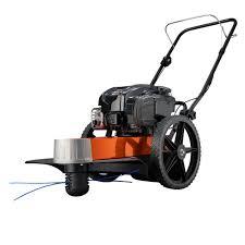 generac 22 in 163cc gas walk behind string trimmer mower