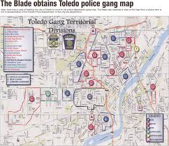 Ohio City Map Blade Obtains Toledo U0027s Map Of Gang Territories The Blade