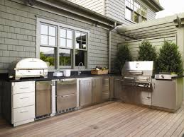 Outdoor Kitchen Cabinets Home Depot Cheap Outdoor Kitchen Ideas Hgtv