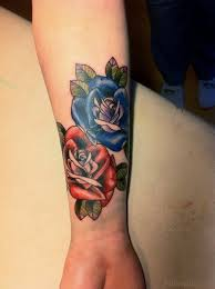 rose tattoo on wrist tattoo collections