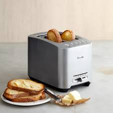 Top Rated 2 Slice Toasters Breville Die Cast 2 Slice Smart Toaster Williams Sonoma