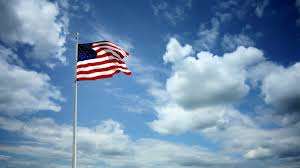 Waving American Flag American Flag Waving Over Beautiful Sky Clouds Background Slow