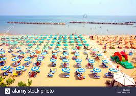 high angle view of the estate hotel beach torre pedrera rimini