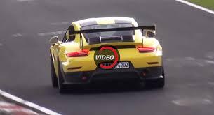 yellow porsche yellow porsche 911 gt2 rs tackles the ring