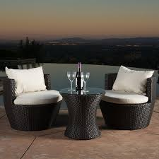Outside Patio Chairs Amazon Com Kyoto Outdoor Patio Furniture Brown Wicker 3 Piece