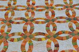 Double Wedding Ring Quilt by Thread Head Double Wedding Ring Quilt