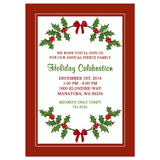 templates for xmas invitations printable christmas party invitation template holly border design