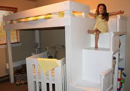 Crib Loft Bed Loft Bed With Crib Underneath Comfortable Loft Bed With