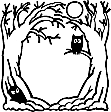 halloween clip art in black and white u2013 101 clip art