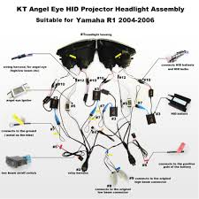 aliexpress com buy kt headlight for yamaha yzf r1 2004 2006 led
