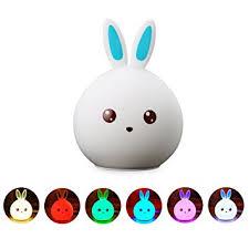 amazon com baby night lights icoco silicone rabbit lamp nursery