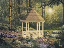 houseplans and more outdoor glamorous somerset six sided gazebo plan 002d 3018