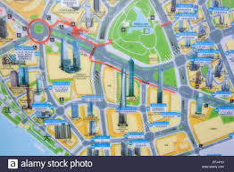 Map Of Shanghai China by China Shanghai Pudong Map Of Pudong Business Area Stock Photo