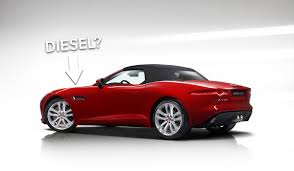 jaguar cars f type it looks like a four cylinder diesel jaguar f type is coming