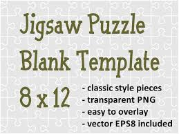 jigsaw puzzle blank transparent template of 96 pieces by