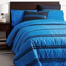 Navy Stripe Comforter Set Riverside Stripe Comforter Sham Navy Strong Blue Pbteen