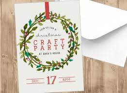 christmas cocktails invite christmas wreath printable holiday party invitation invite red