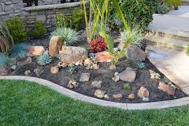 my weekend project a new rock garden