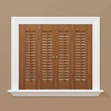 homebasics traditional faux wood oak interior shutter price