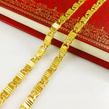 aliexpress buy new arrival fashion 24k gp gold miracle 24k gold necklace for men best necklace