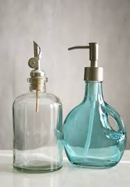 Contemporary Bathroom Accessories Uk - rail19 recycled glass soap dispensers