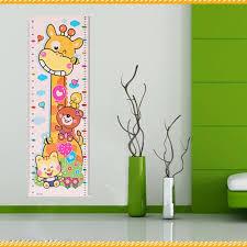 toise chambre b mignon petit prints pvc étanche chambre de bébé décor