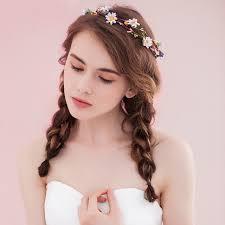 festival flower headbands new women flower crown hairband wedding flower headband garland