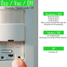 motion sensor light switch on off tdos5 occupancy vacancy sensor switch