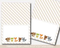 woodland food tent cards fox baby shower food labels fox food