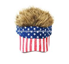 American Flag Visor Wholesale Oem American Usa Flag Flair Hair Brown Visor Hat Buy