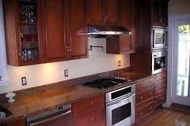 Pot Filler Kitchen Faucet Colonial Kitchen With Cherry Cabinets And Pot Filler Faucet