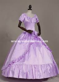 Victorian Costumes Halloween Violet Southern Belle Masquerade Period Ball Gown Princess