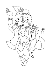 krishna dancing playing flute coloring pages download