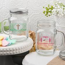 Mason Jar Party Favors Clearly Custom 12 Ounce Mason Jars With Handle