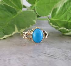 turquoise birthstone yellow gold turquoise ring vintage turquoise ring turquoise ring
