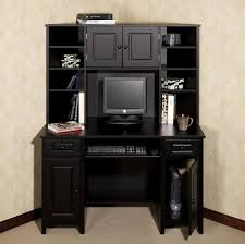 Sauder Graham Hill Computer Desk With Hutch by Furniture Old Black Desk Design With Storage And Drawers The