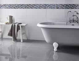 High Gloss Tile Effect Laminate Flooring Tiles Glamorous White Glossy Floor Tiles White Glossy Floor