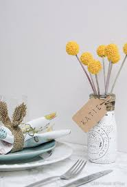Table Setting Cards - spring table setting distressed dollar store jar place cards