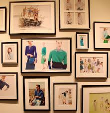 frames j crew headquarters habitually chic gallery wall