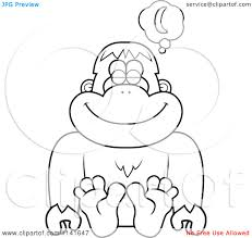clip art bigfoot coloring pages mycoloring free printable